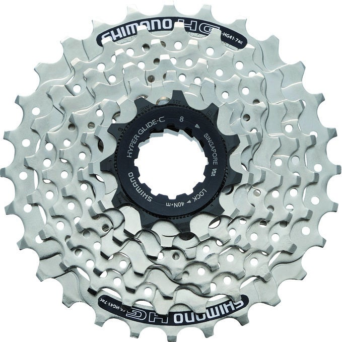 Shimano Cassette CS-HG 41-7 (Color), Silver