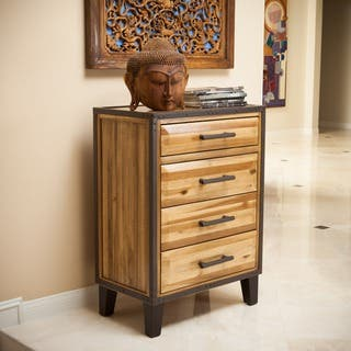 Luna Acacia Wood 4-drawer Chest by Christopher Knight Home|https://ak1.ostkcdn.com/images/products/9419733/P16606719.jpg?impolicy=medium
