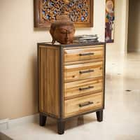 Luna Acacia Wood 4-drawer Chest by Christopher Knight Home