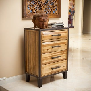 Amazing Luna Acacia Wood 4 Drawer Chest By Christopher Knight Home