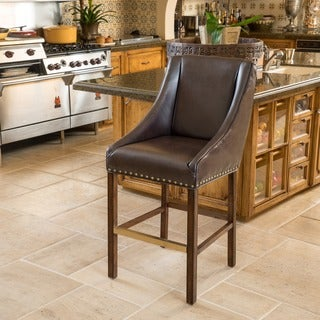 James 27-inch Bonded Leather Counter Stool by Christopher Knight Home (As Is Item)