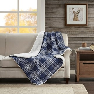Woolrich Tasha Softspun Down Alternative Filled Oversized Throw 2-Color Option