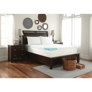 WHITE by Sarah Peyton 3-inch Convection Cooled Gel Memory Foam Mattress Topper