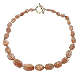Michael Valitutti Two-tone Sunstone Bead Necklace