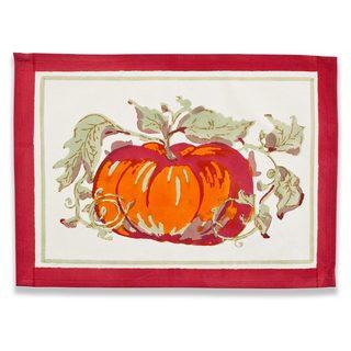 Couleur Nature Pumpkin Rectangle Cotton Placemat (Set of 6)