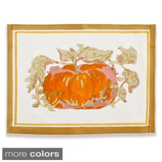 Couleur Nature Pumpkin Rectangle Cotton Placemat (Set of 6)