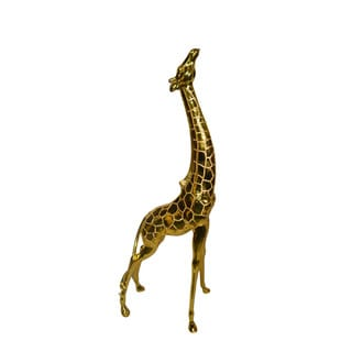 Large Gold Painted Giraffe Sculpture
