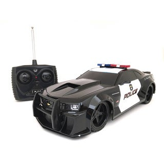 Tri-Band Remote Control 1:18-scale Chevrolet Camaro RC Police Car