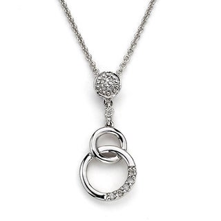Diamonds For A Cure by Neda Behnam 14k White Gold 0.07ct TDW Diamond Pendant Necklace (H-I, SI1-SI2)