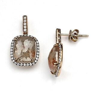 Neda Behnam 18k Rose Gold 7 1/10ct TDW Pink Diamond Earrings