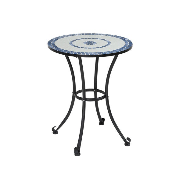 Furniture Of America Spector Blue Mosaic And Iron Bistro
