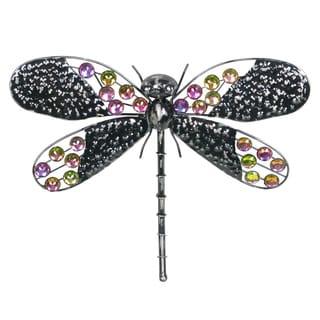 16-inch Rainbow Bling Dragonfly Metal Wall Decor