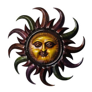 32-inch Multicolor Sun Metal Wall Decor