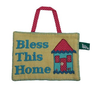 Handmade 'Bless This Home' Decorative Wall Sign (India)
