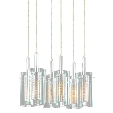 Sonneman Lighting Zylinder 6-Light Rectangle Pendant