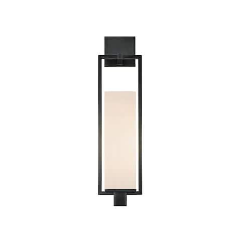 Metro 1-Light Black Brass Wall Sconce