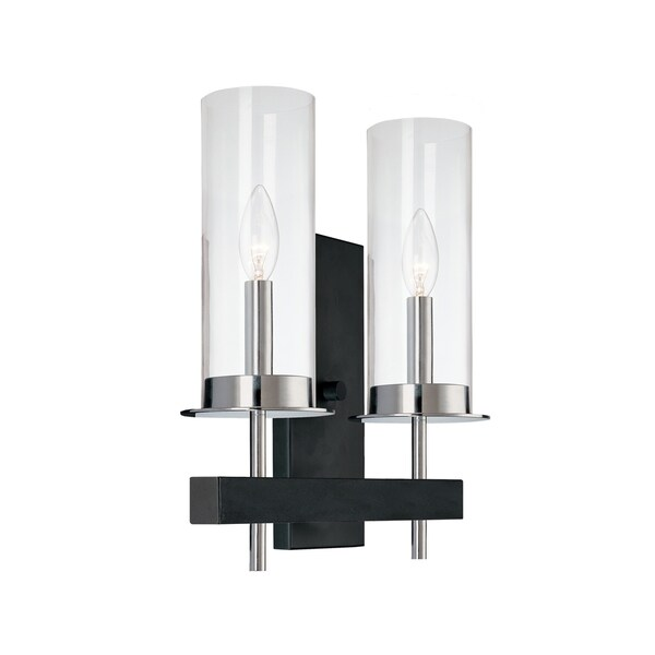 Sonneman Lighting Tuxedo Double 2-Light Wall Sconce