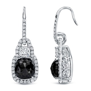 Auriya 18k White Gold 6 1/6ct TDW Cushion-cut Diamond Earrings (H-I, VS1-VS2)