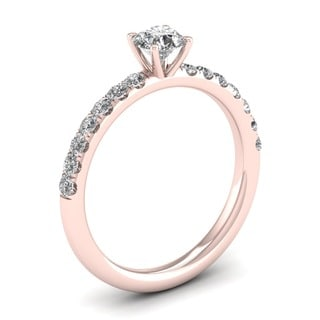 De Couer 14k Rose Gold 3 4ct TDW Diamond Classic Engagement Ring