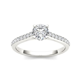 De Couer 14k White Gold 1ct TDW Diamond Engagement Ring