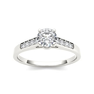 De Couer 14k White Gold 1/2ct TDW Diamond Engagement Ring