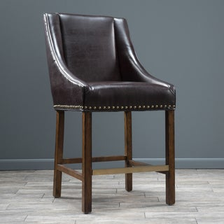 James 31-inch Bonded Leather Bar Stool by Christopher Knight Home