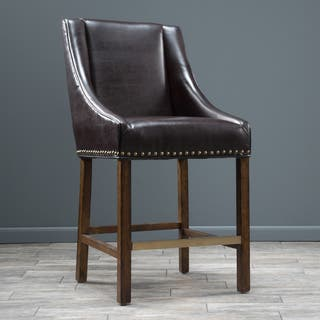 James 31-inch Bonded Leather Bar Stool by Christopher Knight Home|https://ak1.ostkcdn.com/images/products/9420664/P16607623.jpg?impolicy=medium