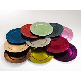 Classic Design Charger Plate (Set of 4)  sc 1 st  Overstock & Pink Dinnerware For Less | Overstock.com