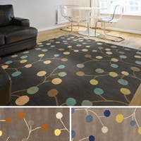 Hand-tufted Gum Drop Floral Wool Area Rug