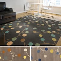 Hand-tufted Gum Drop Floral Wool Area Rug - 5' x 8'