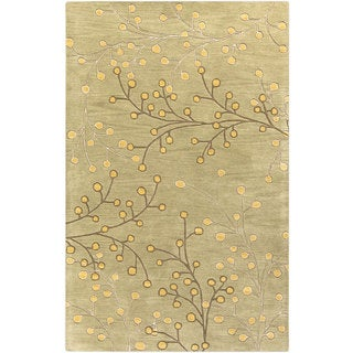 Hand-tufted Sakura Branch Floral Wool Area Rug (12' x 15')