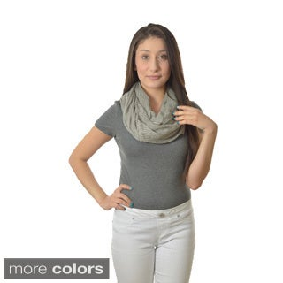LA 77 Neutral Colored Infinity Scarf