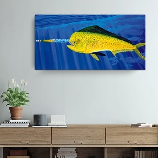 David Dunleavy 'Chasing the Red Eye' Canvas Wall Art
