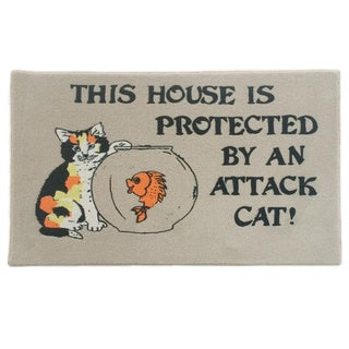 "Attack Cat Indoor Mat (18"" x 27"")"