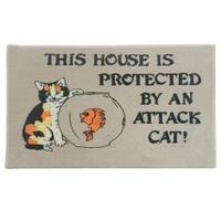 """Attack Cat Indoor Mat (18"""" x 27"""")"""
