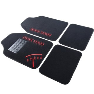 Adeco 4-piece Embroidered Car Floor Mats