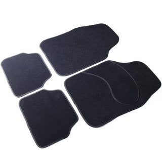Adeco 4-piece Black Vehicle Floor Mats