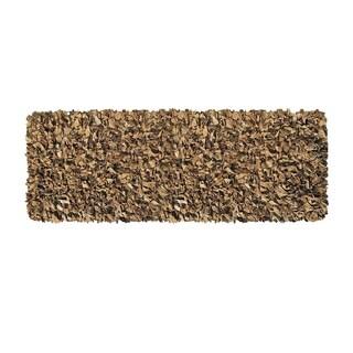 Tan Leather Shaggy Rug (2' x 7'6)