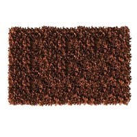 Brown Leather Shaggy Area Rug - 8' x 10'