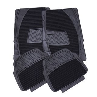 Adeco 4-piece Black Car Floor Mats