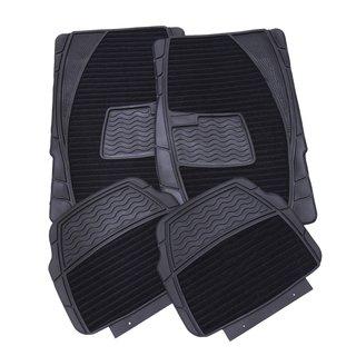 Adeco 4-piece Black Car Floor Mats