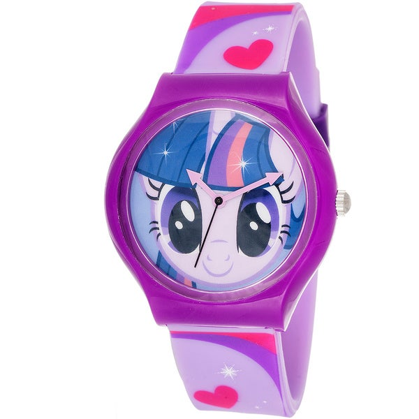 Shop my little pony girl 39 s equestria purple watch free shipping on orders over 45 overstock for Little pony watches