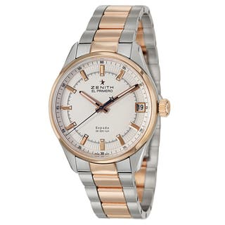 Zenith Men's 'El Primero Espada' 18k Rose Gold and Stainless Steel Swiss Mechanical Automatic Watch|https://ak1.ostkcdn.com/images/products/9421118/P16607688.jpg?impolicy=medium