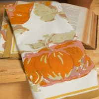 Couleur Nature 20x30-inch Pumpkin Tea Towels (Set of 3)