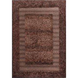 Beautiful and Embellishing Brown Shag Rug (5 x 7'1)