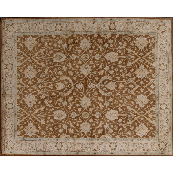 Beautifully designed Brown Wool Rug - 8' x 10'