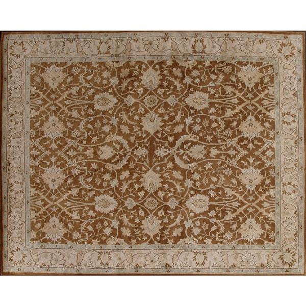 Beautifully designed Brown Wool Rug