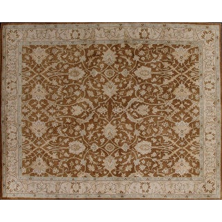 Beautifully designed Brown Wool Rug (8' x 10')