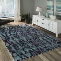 Momeni Casa Machine Made Polypropylene Blue Area Rug - 9'3 x 12'6