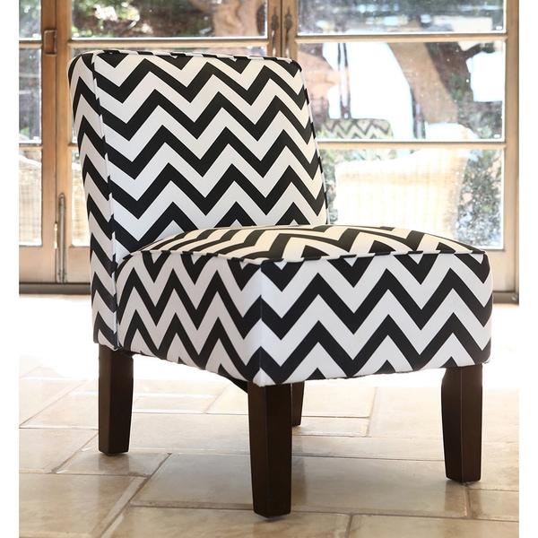 Abbyson uptown striped fabric slipper chair free for Abbyson living soho cream fabric chaise